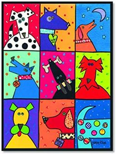 Dog Patch Pop Art by Susan Kline Art Print - Lombn Sites Painting For Kids, Art For Kids, Projects For Kids, Art Projects, Lapin Art, Dog Quilts, Poster Prints, Art Prints, Pop Posters