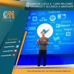 Messenger  alcanza a su hermano Whatsapp en usuarios. #charlesmilander #tecnologia #tech #technology #zte #galaxy #lg #htc #android #mobile #apps #pc #mac #windows #iOS #iphone #ipad #Android #google #samsung #whatsapp #facebook #twitter #youtube #technology #pro #messenger #user #usuarios