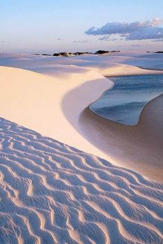 Lençóis Maranhenses, Maranhão, northeast of Brazil. (****There are several more Pins of the Lençóis Maranhenses throughout. Lençóis Maranhenses National Park, Places To See, Places To Travel, Hidden Places, Places Around The World, Around The Worlds, Wonderful Places, Beautiful Places, Beautiful Beach