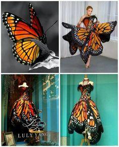 Monarch Butterfly Dress http://www.lulyyang.com/