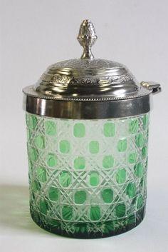 Pottery Biscuit Jar Cookie Jar Jar Made In Japan