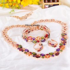 Find More Jewelry Sets Information about S400403 Elegant Colours Zircon Set Zinc Alloy 18K Rose Gold Imitation Platinum Plated With Austria crystal CZ Fashion Jewelry,High Quality platinum garden,China platinum doll Suppliers, Cheap platinum high from Yilinna Jewelry on Aliexpress.com