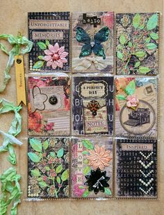 ATC / ACEO - What A Beautiful Mess: Lindys Stamp Gang*** Pocket Letter ***