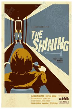 The Shining, 1980. Jack Nicholson is soooo scary in this movie...I watched half of it from behind my hands!
