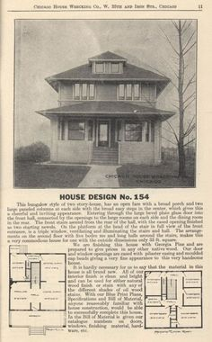 American Foursquare Kit Home Plans On Pinterest