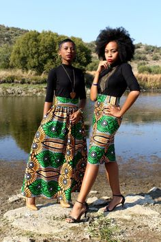 ON SALE African Print Maxi Skirt African by MdyAfricanDesigns