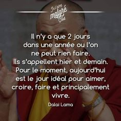 True Quotes, Words Quotes, Best Quotes, Positive Attitude, Positive Thoughts, Mantra, Life Guide, French Quotes, Sweet Words