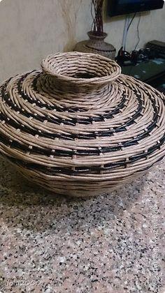 Поделка изделие Плетение последние плетенки 2014 года Трубочки бумажные фото 4