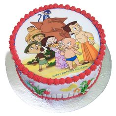 Chota Bheem Photo Cake for your lovable and naughty kid. Call 9718108300 and book your order now. Cartoon Birthday Cake, Birthday Cakes, Birthday Cake Delivery, Butterscotch Cake, Fresh Cake, Online Cake Delivery, Heart Shaped Cakes, Cake Pricing, Buy Cake