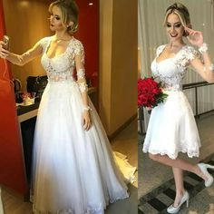 Brides Wedding Dresses Gorgeous Wedding Dresses Detachable Skirt ...