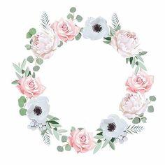 Flower Frame, Flower Crown, Flower Art, Watercolor Flower Wreath, Floral Watercolor, Flower Backgrounds, Flower Wallpaper, Flower Pattern Drawing, Image Clipart