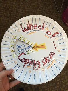 Spin the wheel of coping skills! I love finding new and creative tools to use to help students utilize calming strategies. This would even work in a middle and high school setting.
