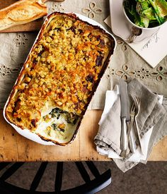 Potato, leek and silverbeet gratin recipe :: Gourmet Traveller
