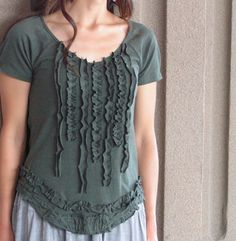I started seeing many fall fashion lines lately... I wanted to make something with that in mind for this shirt. The color of this t-shirt r...
