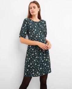 Vestido corto estampado Green power Blandine