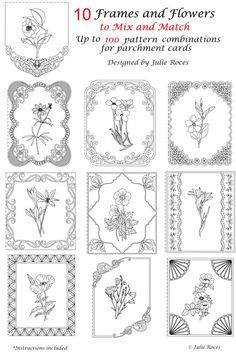 Free Pergamano Lace Patterns | Julie Roces Parchment Pattern Packs