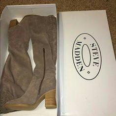 Taupe Over Knee Boot Steve Madden