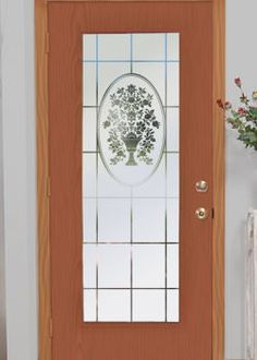 Naples Etched Glass Decorative Door Film