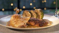 Rezept zur Folge: Mein klassisches Weihnachtsmenü Dinner Menu, Turkey, Meat, Chicken, Orange, Food, Moritz, Chef Recipes, Fried Dumplings