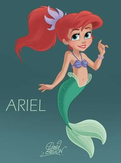 Aww young Ariel's cute.
