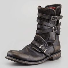 Fresh Footwear▪Multi-Strap Buckle Boot, Charcoal by John Varvatos Belt Buckle Mens, Belt Buckles, Me Too Shoes, Men's Shoes, Shoe Boots, Shoes Style, Look Fashion, Fashion Shoes, Mens Fashion