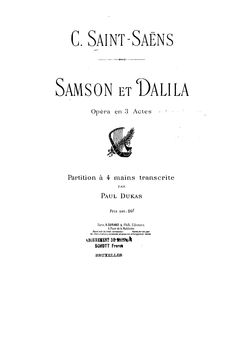 Paul Dukas (1865-1935)  Publisher Info.:   Paris: Durand et Schoenewerk, n.d. Plate D. S. 4431  Copyright:   Public Domain