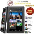 """7"""" Inch 8GB Android Tablet Quad Core 4.4 Dual Camera Wifi Bluetooth Tablet PC"""