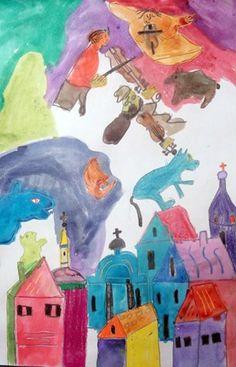 Chagall Dreamscape by my student Monica, grade 4 (Donna Staten)