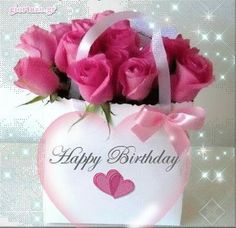 10 beautiful happy birthday wishes to add some love to anyone's birthday today! Happy Birthday Gif Images, Animated Happy Birthday Wishes, Happy Birthday Wishes For A Friend, Happy Birthday Rose, Birthday Wishes Flowers, Happy Birthday Celebration, Birthday Blessings, Happy Birthday Messages, Cool Birthday Wishes