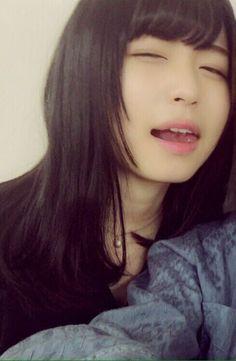 I am thinking of you beauty Asian Cute, Cute Asian Girls, Beautiful Asian Girls, Cute Girls, Kawaii Cute, Kawaii Girl, Japanese Beauty, Asian Beauty, Girl Tongue