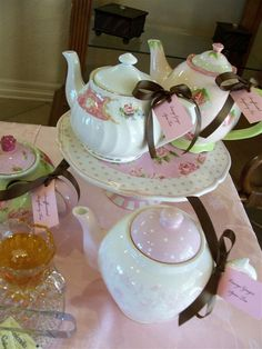Tea Party - love the teapot tags