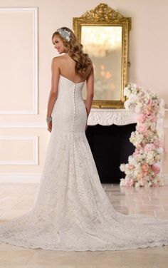 6218 Fit-and-Flare Wedding Gown by Stella York
