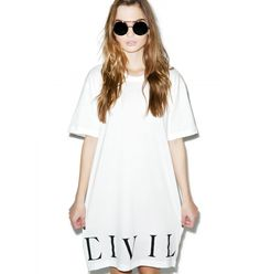 Civil Clothing Civil Bottom Side Zip Long Tee