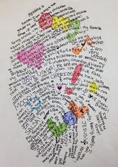 Fingerprint design. Great getting to know your students idea