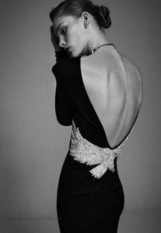 Beautiful elegant back dress