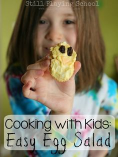 Cooking with Kids: Easy Egg Salad Recipe Get kids in the kitchen to use up hard boiled eggs!