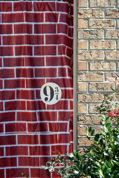 Harry Potter birthday Put a brick curtain (can probably be painted) over the entrance to your party... make sure to include sign that says 9 3/4