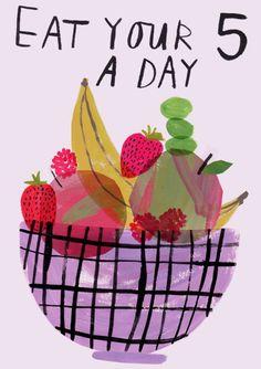 Los expertos recomiendan que todo el mundo cinco raciones de fruta y verdura al día.