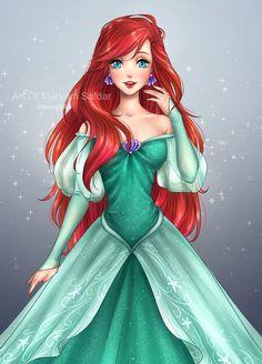 "mari945: "" Princess Ariel made for floraiji30 on DA #PrincessAriel #TheLittleMermaid #disneyprincess """
