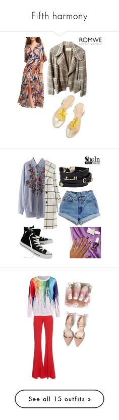 """""""Fifth harmony"""" by lady-shadylady ❤ liked on Polyvore featuring Burberry, WithChic, Levi's, Allegra K, Converse, Versace, Essie, men's fashion, menswear and Antonio Berardi"""