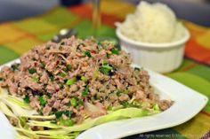 Spicy Meat Salad : Thai Larb Neau | The High Heel Gourmet
