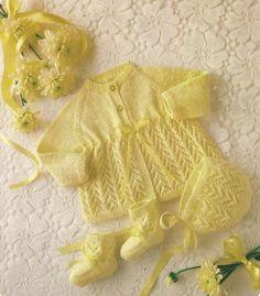 Spotlight Free Knitting Patterns Babies : Babys Jacket & Bootees - Project - Spotlight Australia free pattern ...