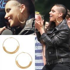 Celeb Inspired Big Gold Hoop Earrings Feel like a star with these celeb inspired big gold hoop earrings. These earring were seen on Alicia Keys in her latest Levi's commercial. Earring are brand new with tags. The measure 3.5 inches in diameter. Bundle 2 or more items and save 10% off total. If you have any questions please feel free to ask. Thanks for looking and stay fab!!! YouBeFab Jewelry Earrings