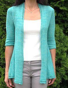 Soubrette laceweight cardigan #knittingpattern on Ravelry by Mary Annarella (Lyrical Knits)