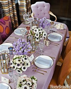 Grouped floral centerpieces