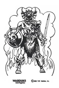 Warduke - artwork for Shrinky Dinks