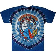 See this awesome tie dye t-shirt dyed and screen printed in the Grateful Dead Vintage Bertha pattern. This tshirt is available in adult regular and plus sizes. Tie Dye Shirts, Dye T Shirt, Grateful Dead Shirts, Tie Dyed, Screen Printing, Printed, Awesome, Pattern, Mens Tops