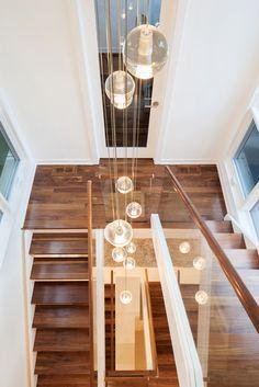 Lights make this staircase