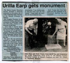 Wyatt Earp Funeral   Urilla Sutherland Earp (1849 - 1870) - Find A Grave Photos