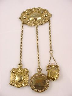 Victorian gold gilded Chatelaine